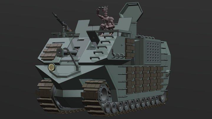 Mark-V Boiga Cruiser Tank 3D Model