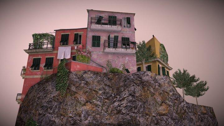 1DAE: Cityscene Cinque Terre 3D Model