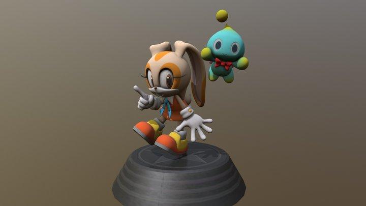 Sonic Generations - Cream the Rabbit Statue 3D Model