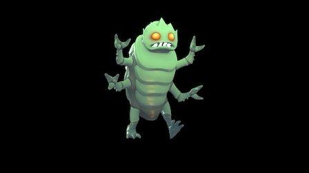 Walking Bug Game Character 3D Model