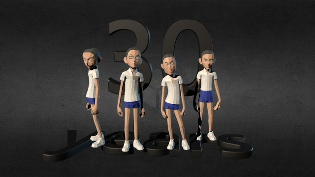 For 30 years of friendship 3D Model