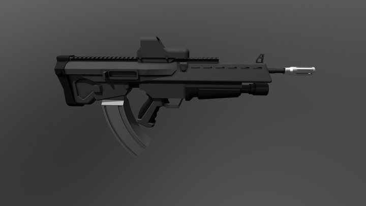 Eclipse: Assault Rifle (V2.0) 3D Model