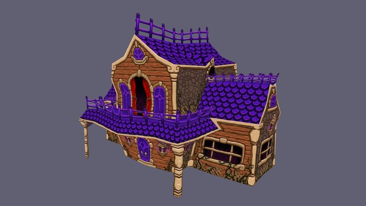Crooked House 3D Model