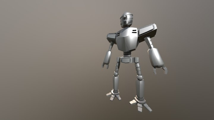 Toriyama Style Robot 3D Model