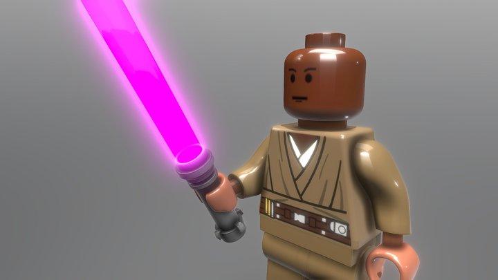 Lego Mace Windu 3D Model