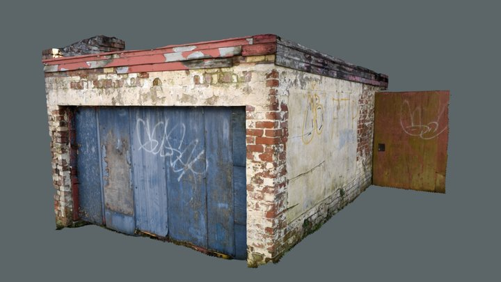 Derelict Garage Graffiti Scan 3D Model