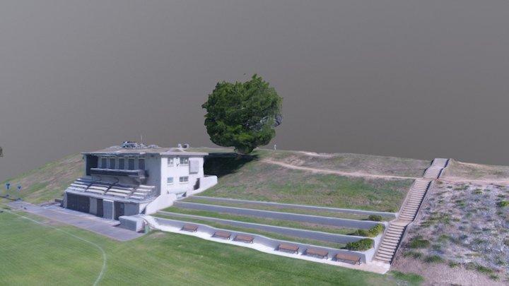 Queens Park Oval Cricket Club 3D Model