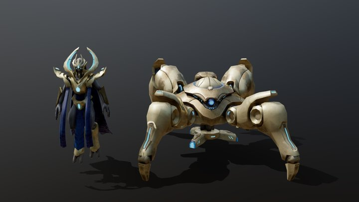 Dragoon & High Templar WIP, retimed loop 3D Model