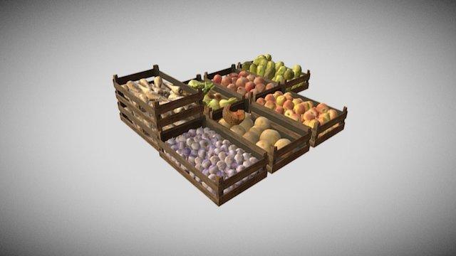 Fruit Veg Market 3D Model