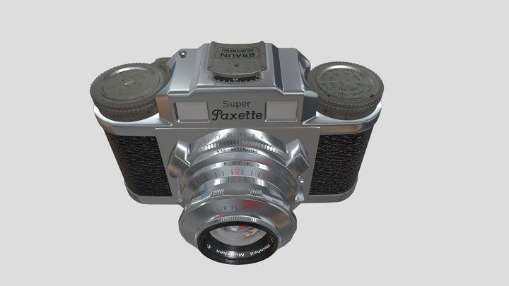 Braun Paxette Camera 3D Model