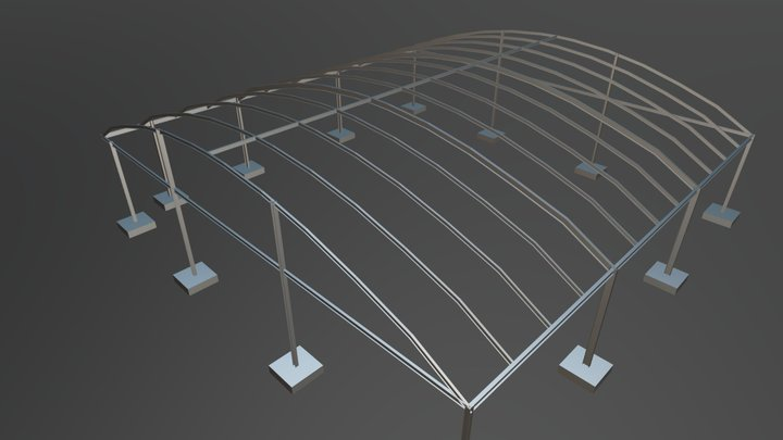 METAL STRUCTURE IN PAPHOS (30) 3D Model