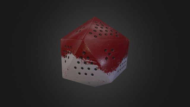 D20 with Pips 3D Model