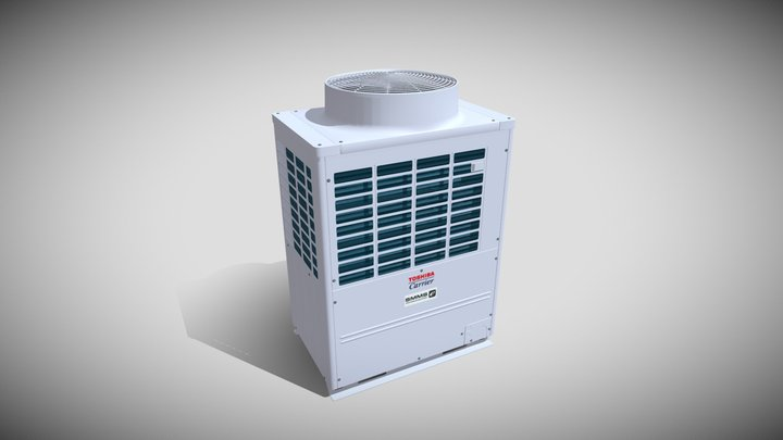 14hp Toshiba Carrier Heat Recovery Outdoor Unit 3D Model