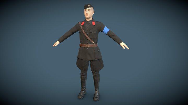 WW2 -Soldier 3D Model