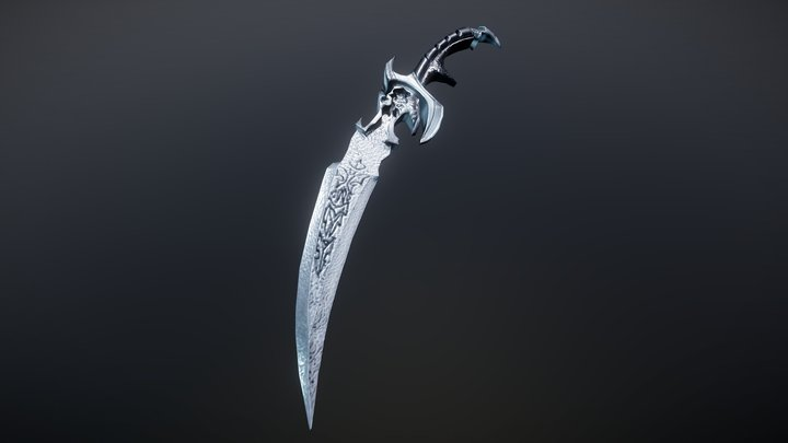 Night Queens Blade (Weapon Free LowPoly) 3D Model