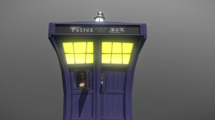 TARDIS  (from DOCTOR . WHO) 3D Model