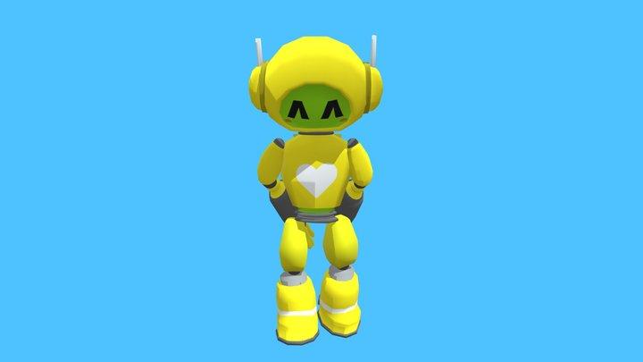 Shy Robot 3D Model