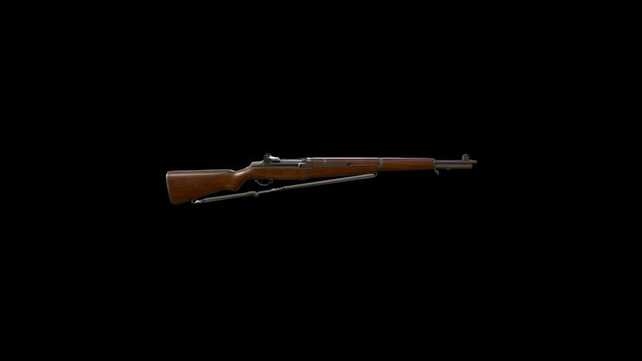 WW2 Rifle Springfield M1 3D Model