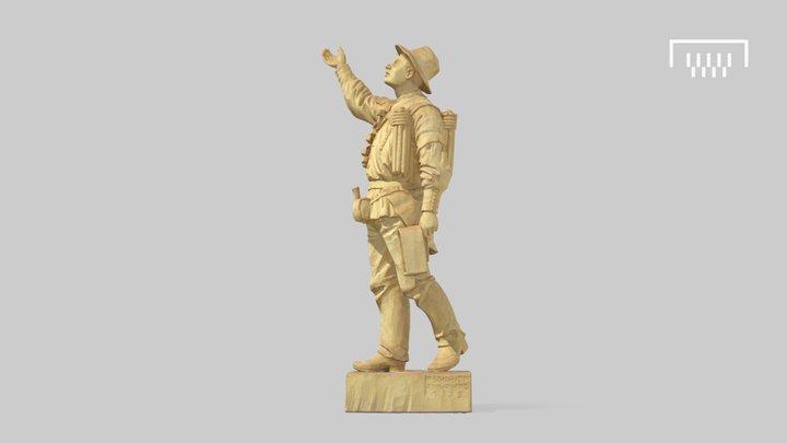 Holzskulptur 3D Model