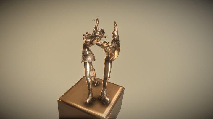 Artistic Roller Skate Sculpt 3D Model