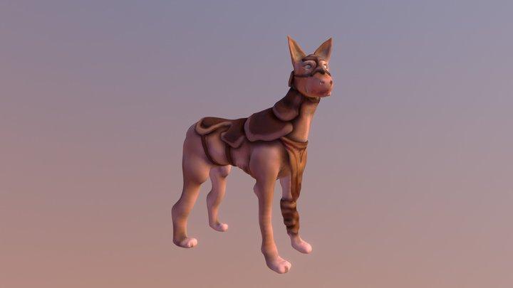 Armored Pharaoh Hound 3D Model