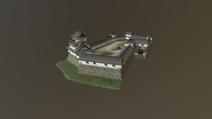 "村上城 本丸( ""honmaru"" of Murakami castle) 3D Model"
