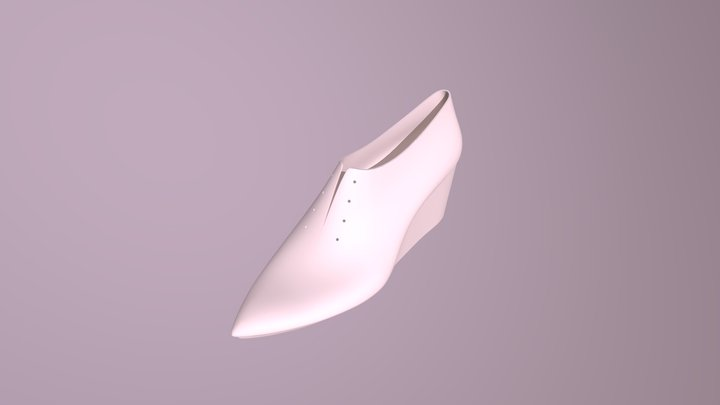 ヒール紐靴 / lace up heel shoes 3D Model