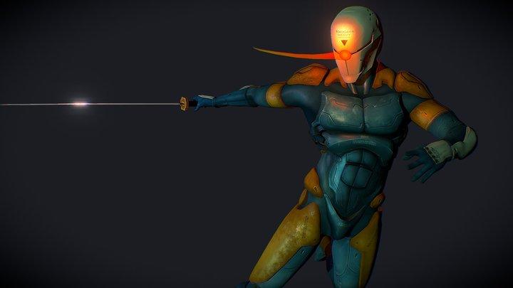 Gray Fox 3D Model