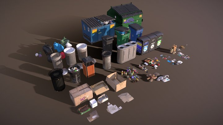Urban Trash 3D Model
