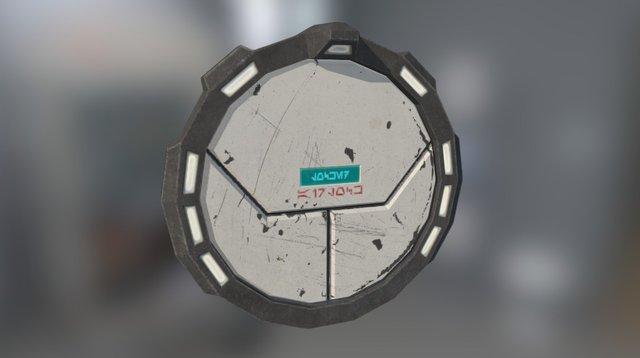 Star Wars KOTOR style blast door 3D Model
