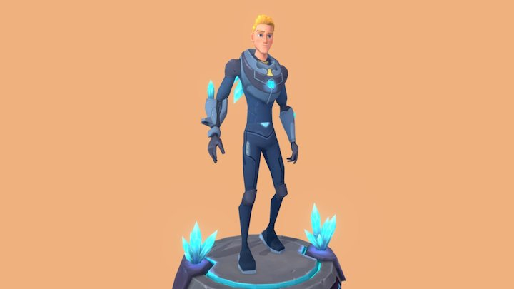 Crystal Boy 3D Model