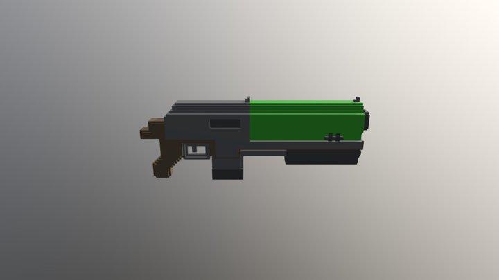 Voxel Shotgun 3D Model