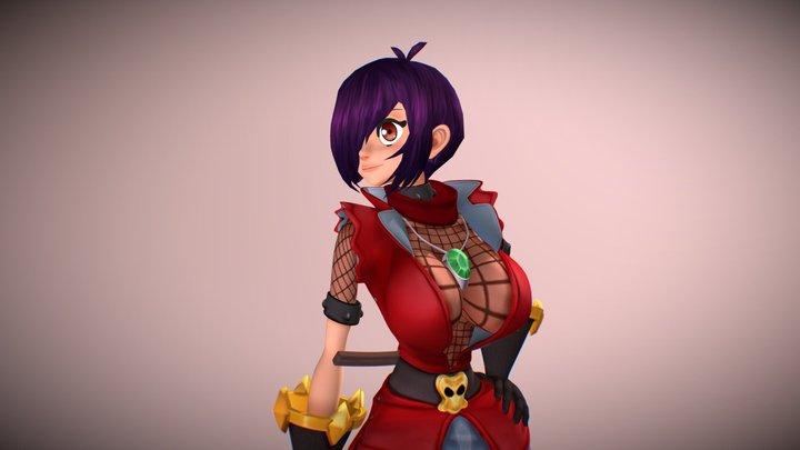 Mina the Ninja Pirate 3D Model