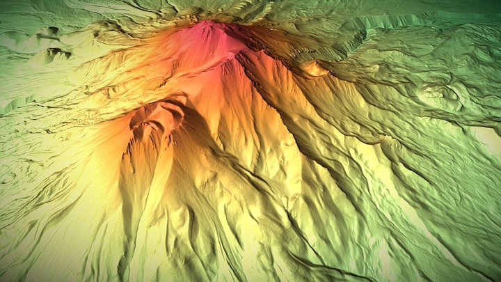 Mount Shasta Volcano 3D Model