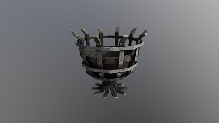 Medieval Brazier 3D Model