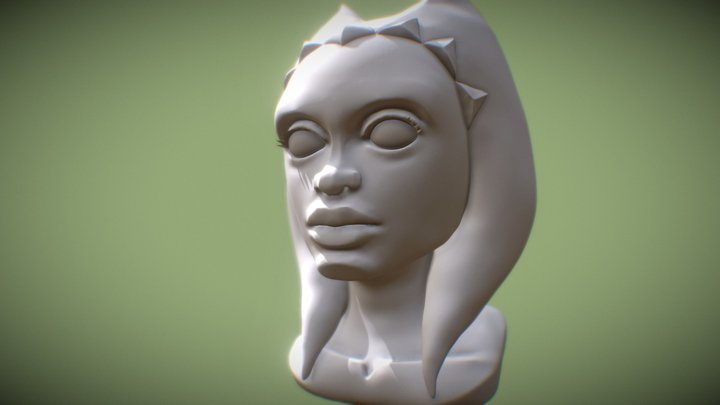 high poly head 2 - WIP 3D Model