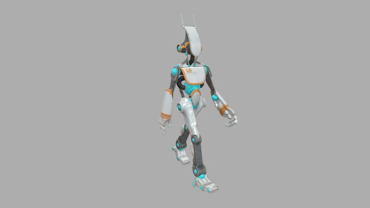 Walk Rigged V003 3D Model