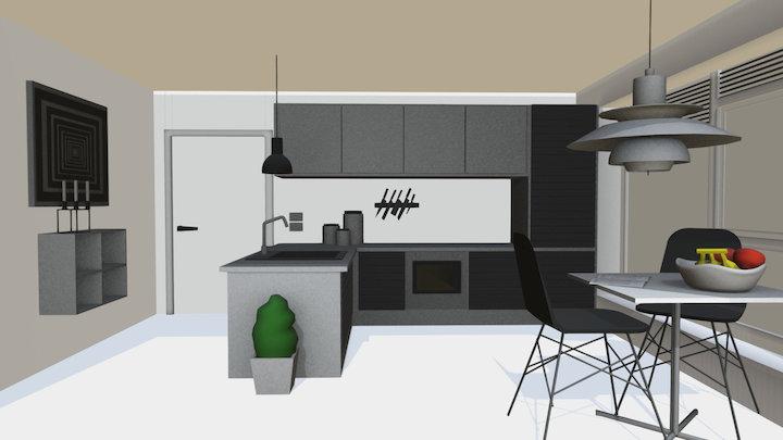 Dinning/kitchen room 3D Model