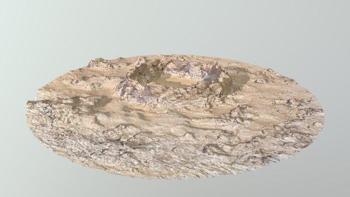 Playa de Somo Santander Sand crater Point cloud 3D Model