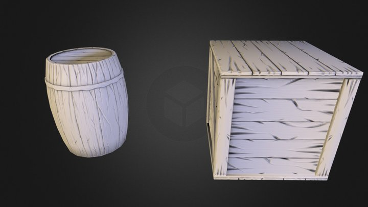 box barrel.obj 3D Model