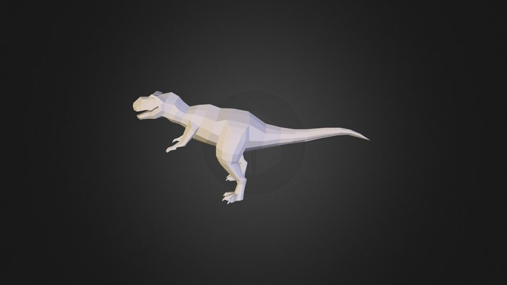 t-rex low poly 3D Model