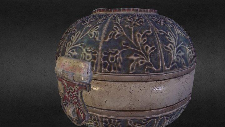 antique silver box 3D Model