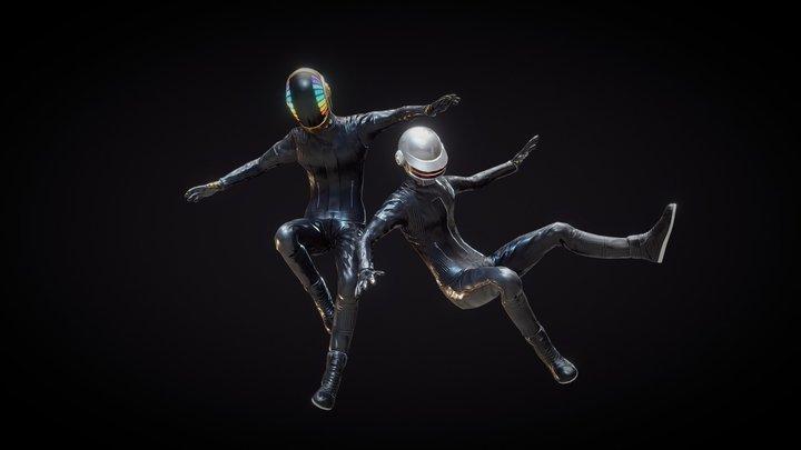 Daft Punk (Rigged) 3D Model