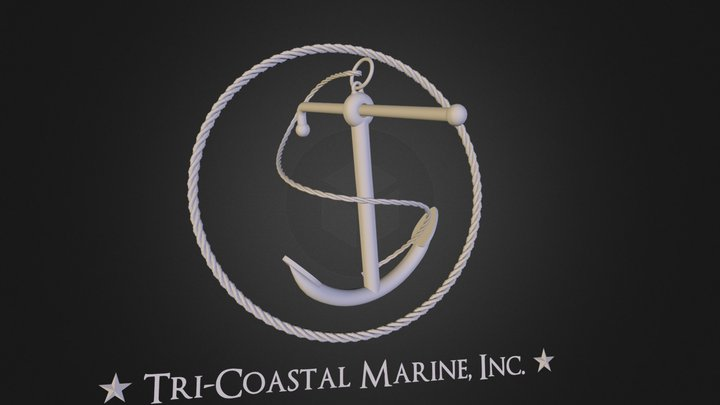 Tri-Coastal Marine Anchor 3D Model