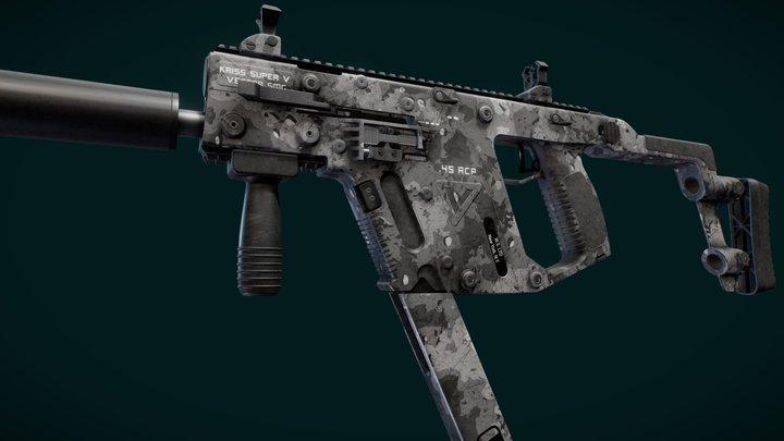 Kriss Vector | Winter Camouflage 3D Model