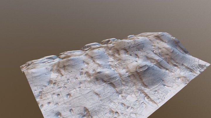 Prehistoric, WWI and present landscape Karst 3D Model