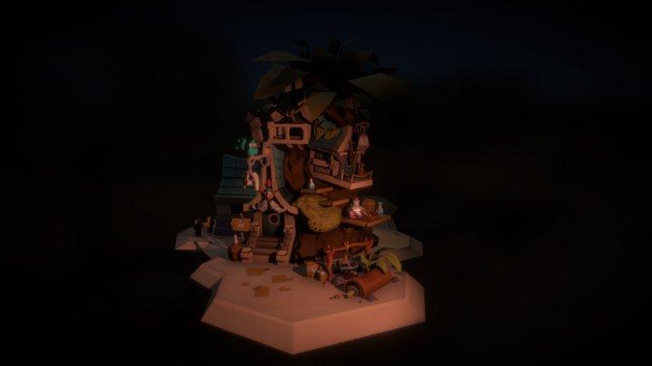 """""""Voodoo Cabin"""" by Krzysztof Maziarz 3D Model"""