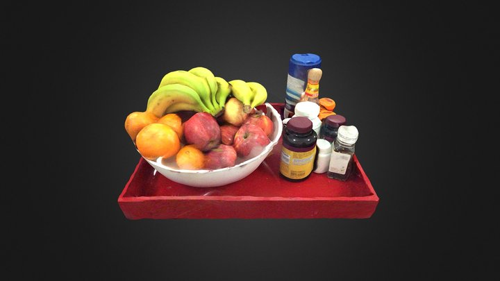 Red Box of Fruit #3DST41 3D Model