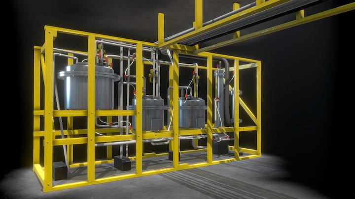 Suspicious Chemical Reactor (WIP) 3D Model