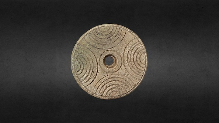 Fusaiole antique, terre cuite, Alsace, France 3D Model